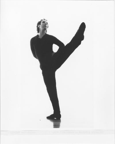 Choreographer and dancer Jeff Friedman in Muscle Memory (1994).  Photo by Steven Savage.